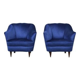 Mid-Century Modern Pair of Italian Armchairs by Gio Ponti for Casa E Giardino For Sale