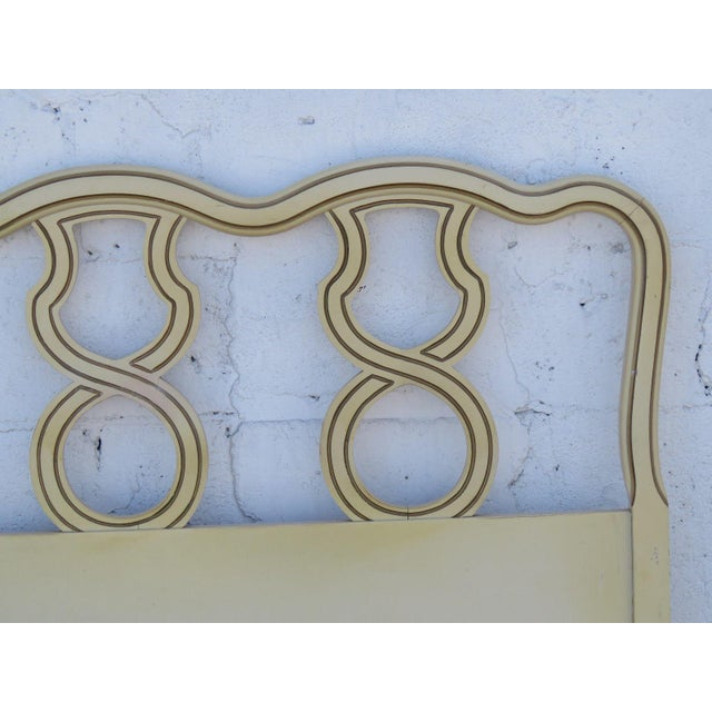 1960s French King Size Painted Headboard For Sale - Image 5 of 11