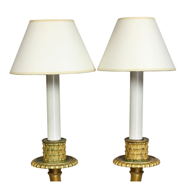 Neoclassic Style Gilt Bronze Wall Lights - a Pair For Sale - Image 4 of 7