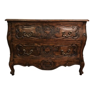 18th Century Style Carved French Provincial Dresser For Sale