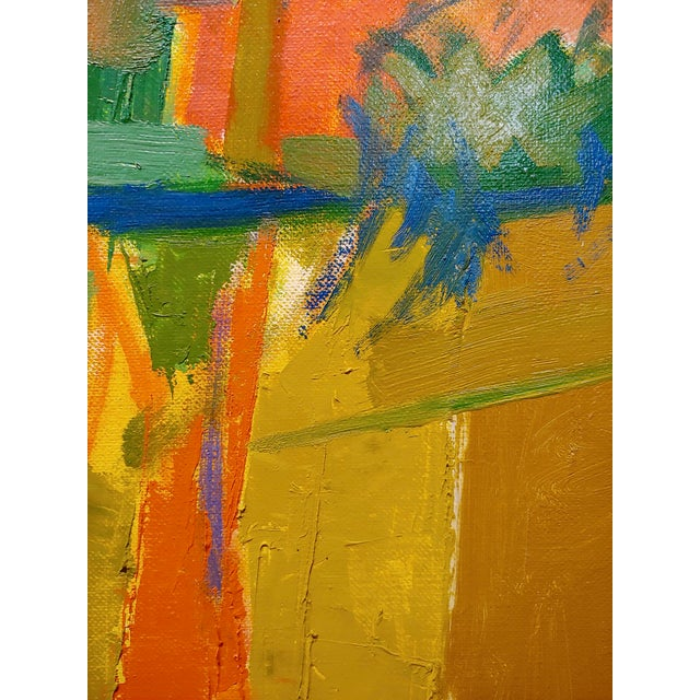 "Herb Kornfeld ""California Landscape"" Modernism Oil Painting For Sale In Los Angeles - Image 6 of 9"