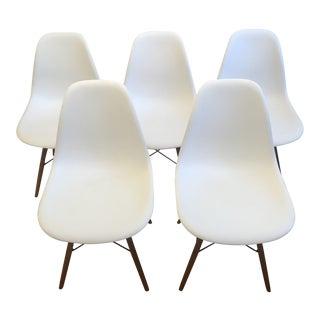 Herman Miller Eames Molded Plastic Dowel-Leg Side Chairs - Set of 5