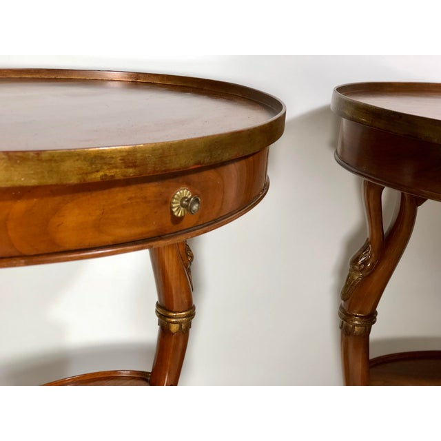 Pair of French Swan Side Tables For Sale In Atlanta - Image 6 of 8