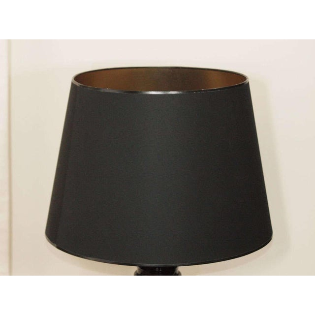 Modern Black Lacquer Table Lamps - A Pair For Sale - Image 3 of 8
