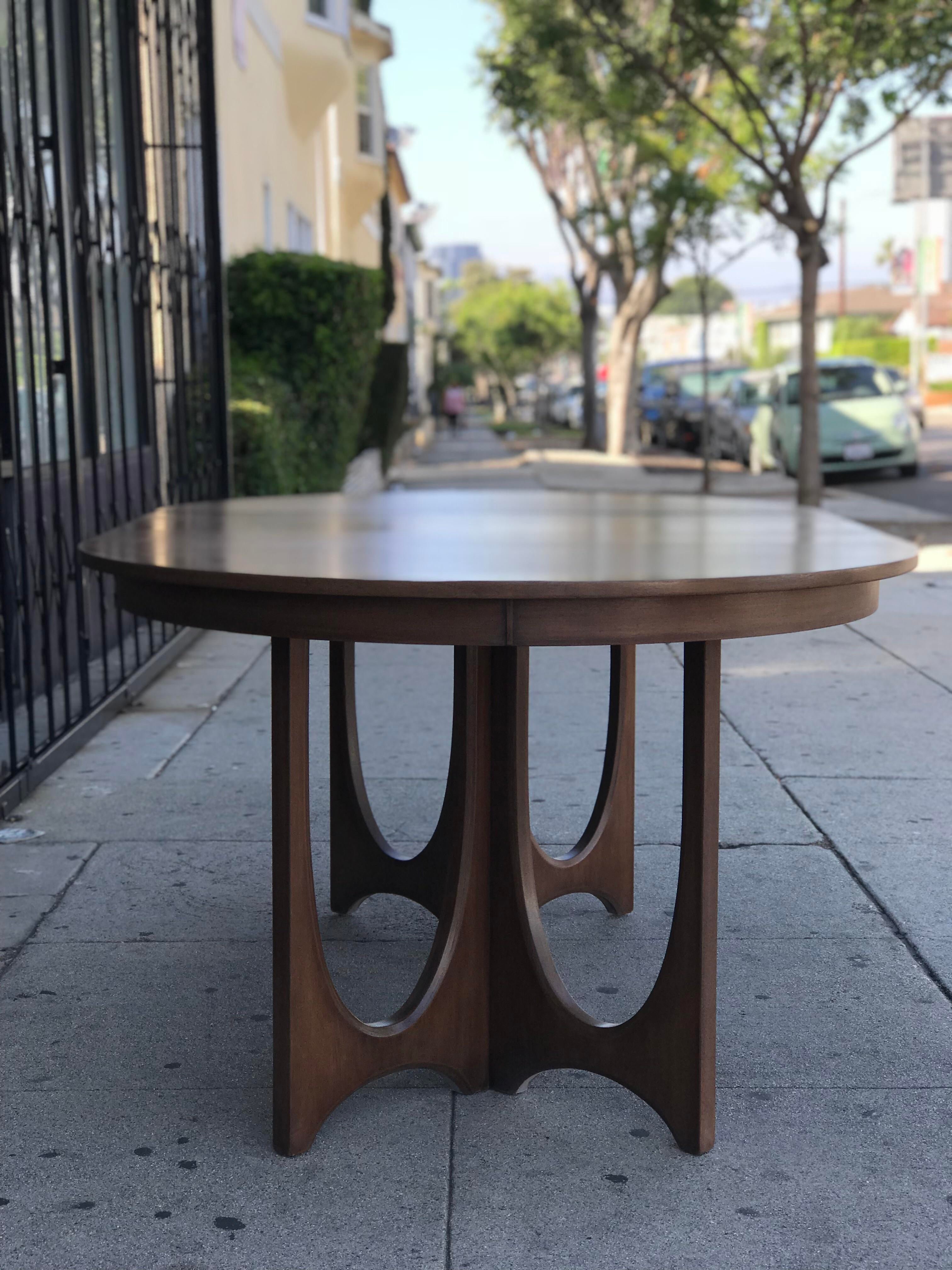 Mid Century Broyhill Brasilia Dining Table For Sale   Image 10 Of 13