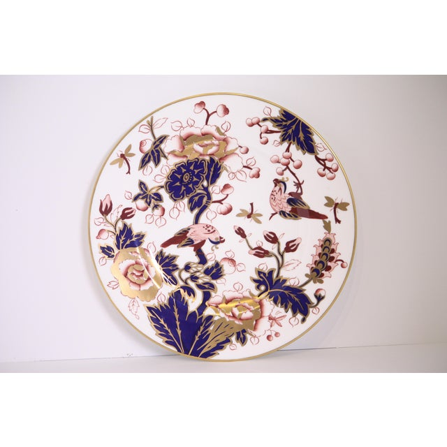 Traditional Coalport Hong Kong Pattern Bone China Dinner Plate For Sale - Image 3 of 8
