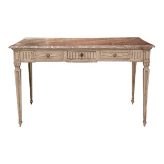 19th Century French Louis XVI Painted Writing Table For Sale