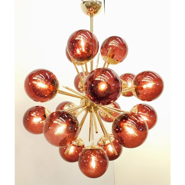 Italian Diciotto Sputnik Chandelier by Fabio Ltd For Sale - Image 3 of 8