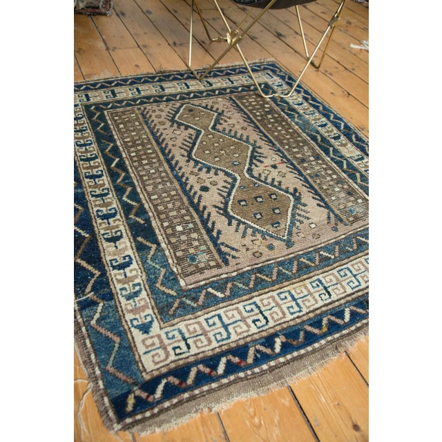 """Vintage Caucasian Square Rug - 3'6"""" x 4' For Sale - Image 9 of 10"""