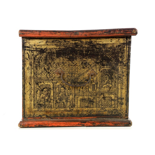 Antique Chinese Red and Gold Blanket Chest, 19th C - Image 8 of 10