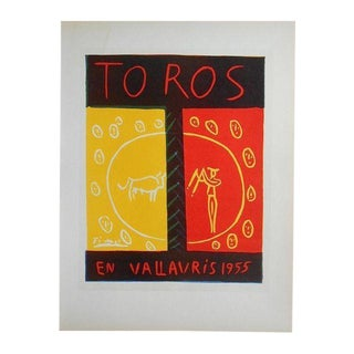 Picasso Mid 20th C Modern Lithograph-Printed By Mourlot 1959 For Sale