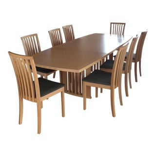 Skovby Sm19 Dining Table & Chairs - Set of 9