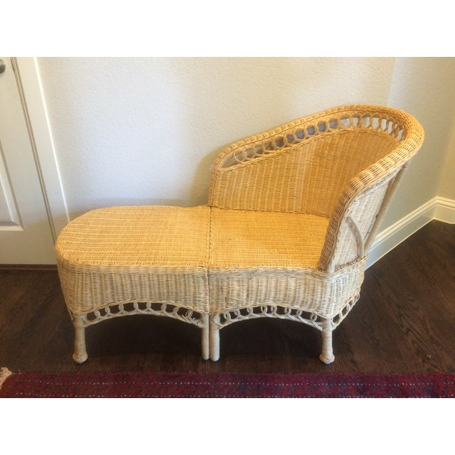 What a find! This is sturdy and cute and the perfect size for a bedroom, living room, or even your patio! Use this chaise...