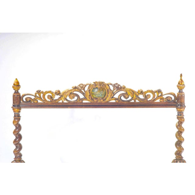 19th Century 19th C. Italian Polychromed Fireplace Surround For Sale - Image 5 of 6
