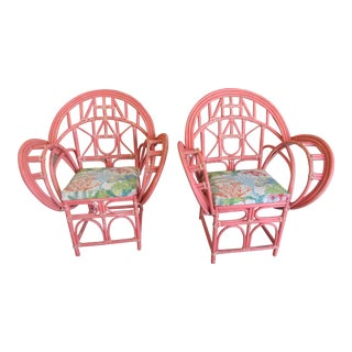 Bamboo Tropical Chairs - A Pair For Sale