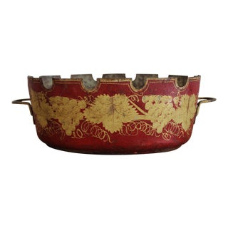 Empire Tole Red and Gilt Decorated Verriere For Sale