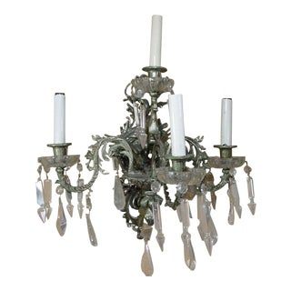 19th Century Nickel-Plated Bronze Rococo Dragon Wall Sconce Set of Four For Sale