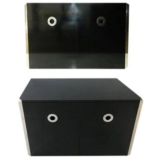 Mario Sabot Black Laminate Sideboards - A Pair For Sale