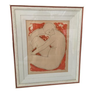 Alain Bonnefoit Nude Lithograph 28/150 For Sale