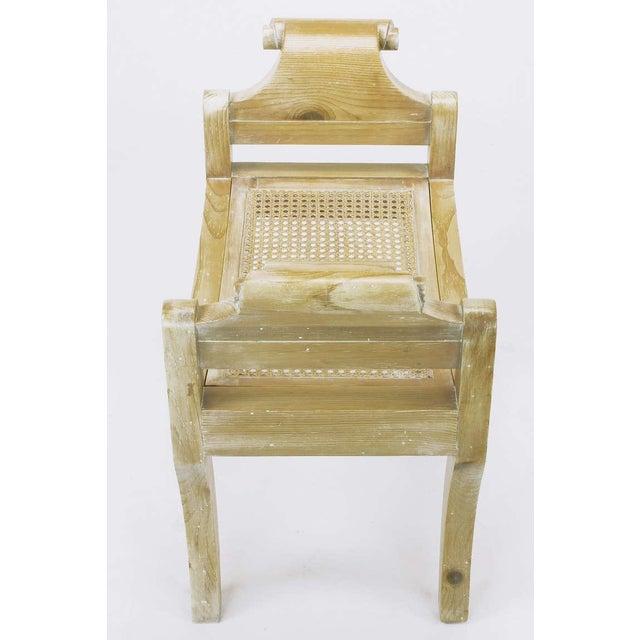 Pair Swedish Rococo Style White Glazed Pine Benches - Image 3 of 10