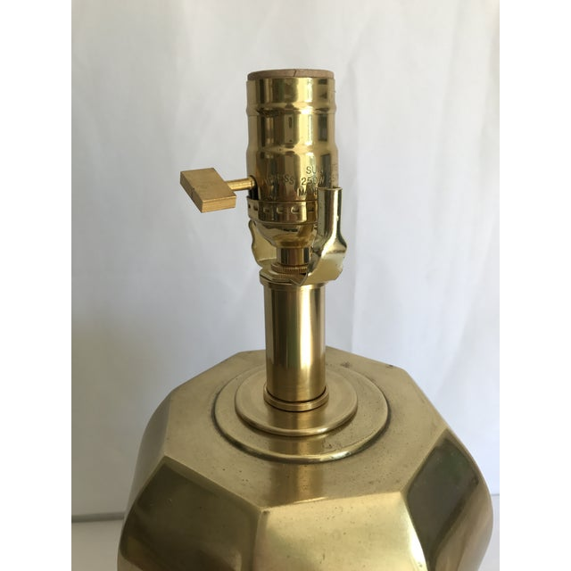 Westwood Lamps Westwood Vintage Brass Geometric Table Lamp For Sale - Image 4 of 6