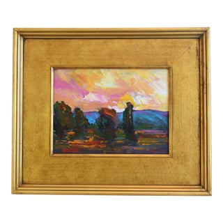 California Impressionist Landscape Painting by Juan Guzman For Sale