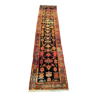"Vintage Persian Malayer Runner Rug - 3'3""x13'9"" For Sale"