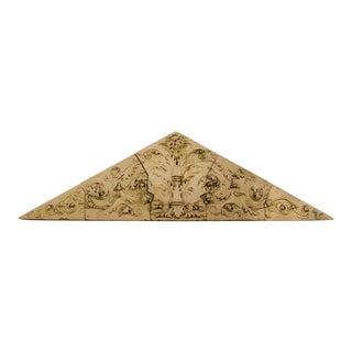 Large Triangular Terracotta Frieze Philadelphia Circa 1870 - 5 Pieces For Sale