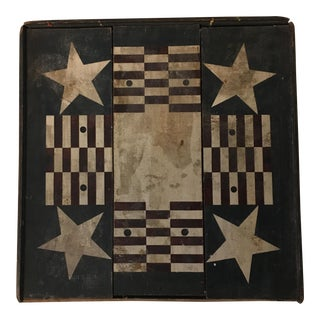 Vintage Stars & Stripes Folk Art Wood Panel