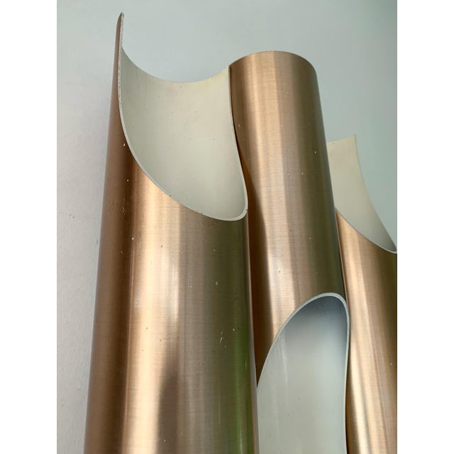 1970s Pair of Maxi Fuga Sconces Gilt Metal by Komulainen for Raak Amsterdam. 1970s For Sale - Image 5 of 12