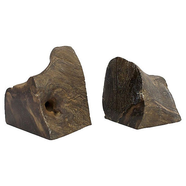 Vintage Petrified Wood Bookends For Sale In Los Angeles - Image 6 of 6