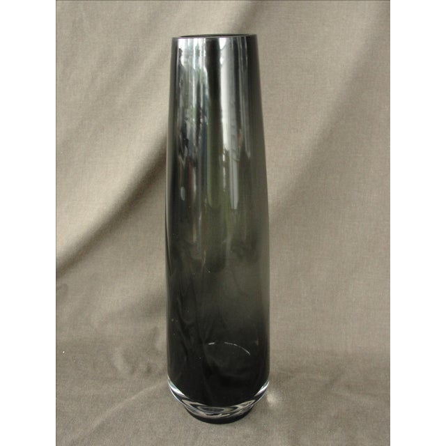 Vintage Blown Smoked Glass Vase - Image 3 of 6