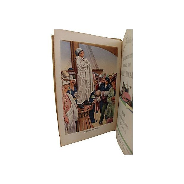 Leather Bound Works of Mark Twain - Set of 20 For Sale - Image 5 of 6