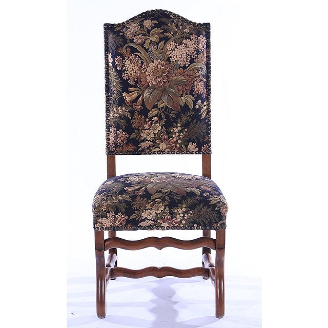French Upholstered Dining Chairs - Set of 6 - Image 3 of 5