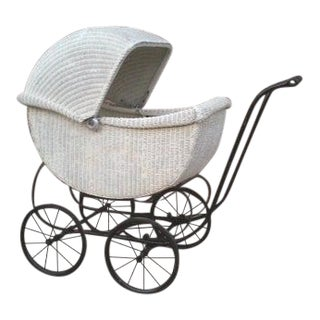 Vintage Wicker Buggy For Sale