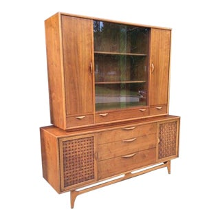 Amazing Mid-Century Modern Lane Perception Two Piece China Cabinet