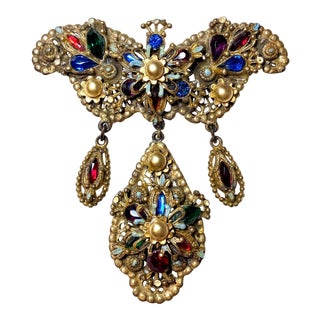 1940s Thief of Bagdad Jeweled Brooch For Sale