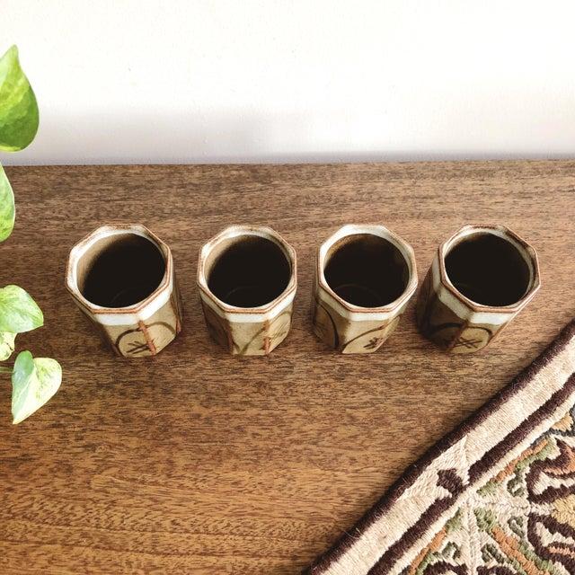 Vintage Asian Ceramic Sake Cups - Set of 4 For Sale In Austin - Image 6 of 7