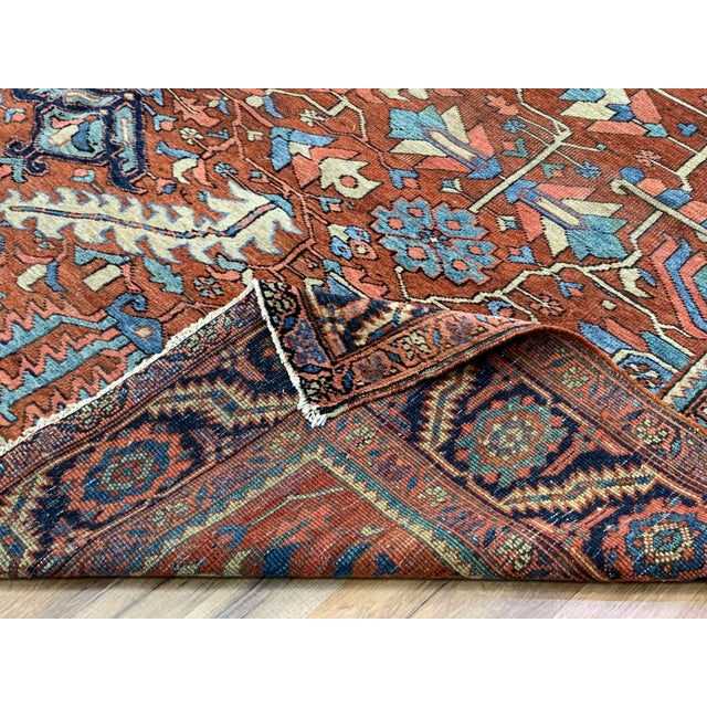 Antique Persian Sarapi Rug For Sale - Image 9 of 12