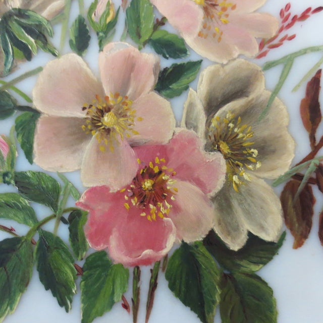 Hand-Painted Pink Floral Charger - Image 3 of 4