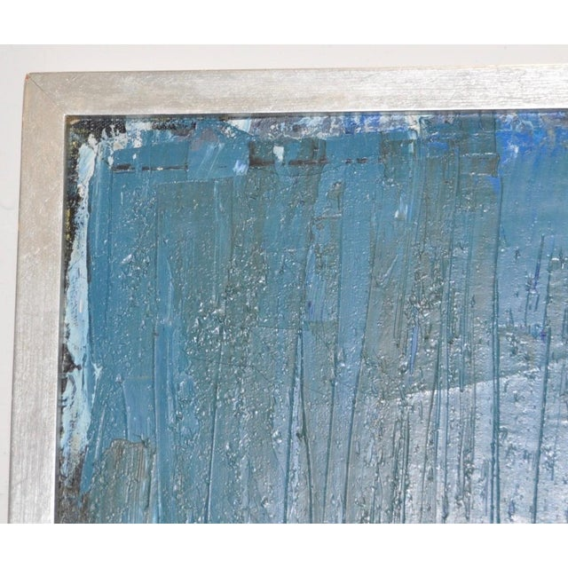 Blue Mid Century Modern Abstract Masterpiece by R. Neeley c.1960 For Sale - Image 8 of 10