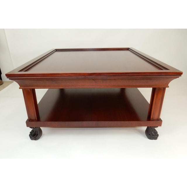 Brown Traditional Two Tier Mahogany Coffee Table by Ralph Lauren 50 Inches For Sale - Image 8 of 13