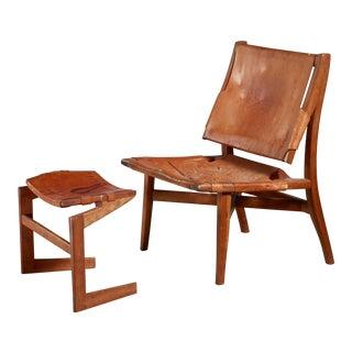 Studio Craft Lounge Chair With Ottoman, Usa
