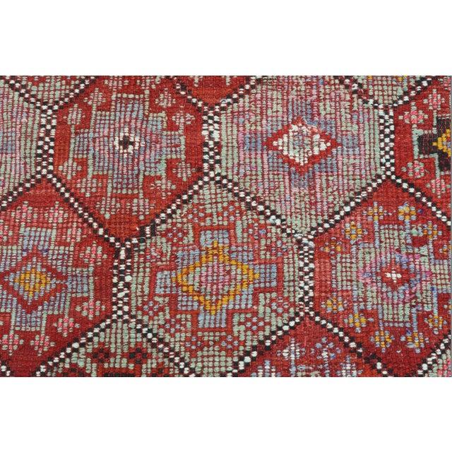 Brick Red Vintage Turkish Fethiye Nomad's Flat Weave Rug For Sale - Image 8 of 12