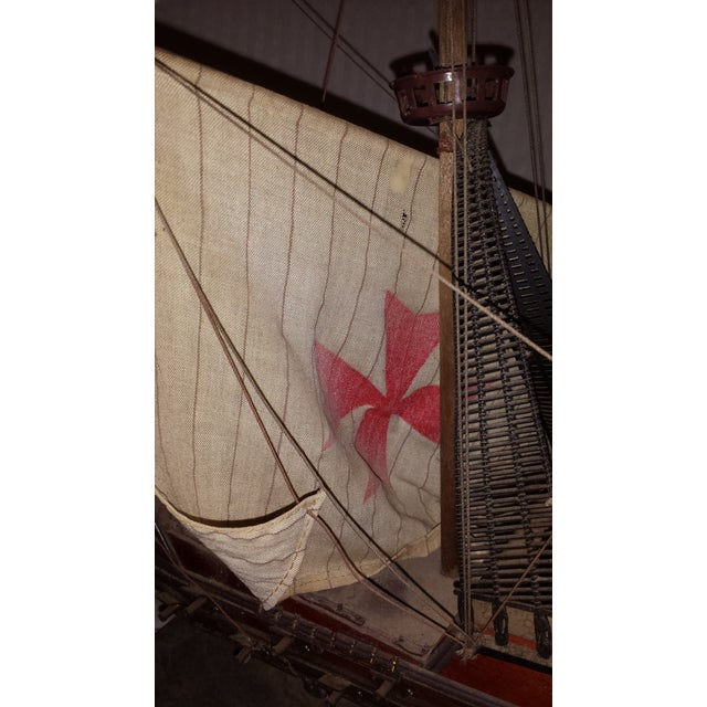 Antique Wooden European Ship Galleon For Sale - Image 5 of 11