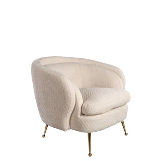 Palermo Accent Chair In Boucle White For Sale