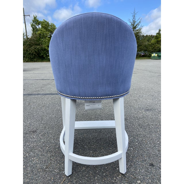 Blue Lee Industries ​​Counter Stools With Perennials Performance Fabric For Sale - Image 8 of 10