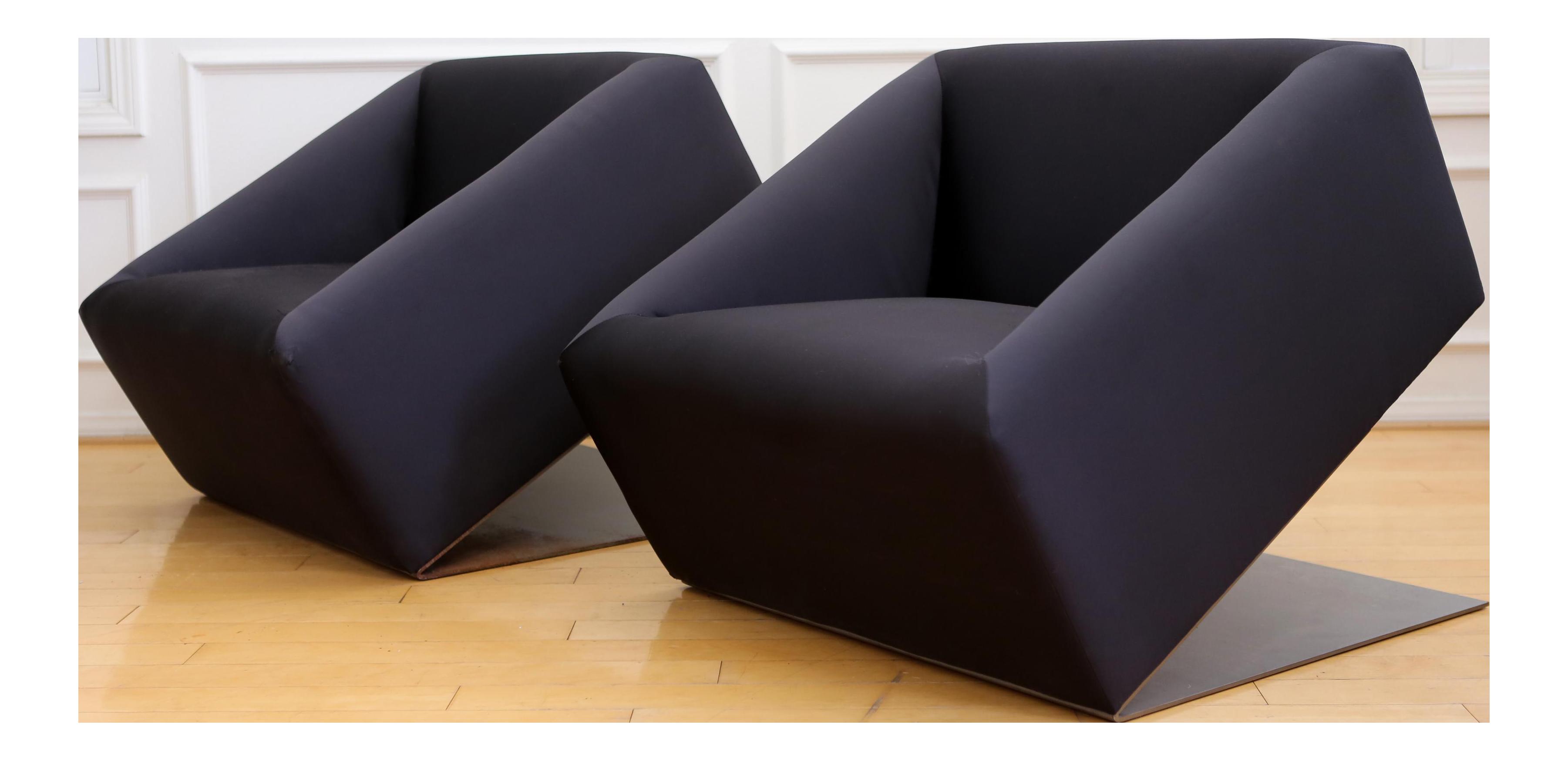 custom club chairs. Black Silk Modern Custom Club Chair - A Pair Chairs