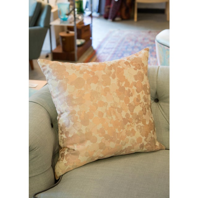 Iridescent Rose Gold Pillow For Sale In Raleigh - Image 6 of 8