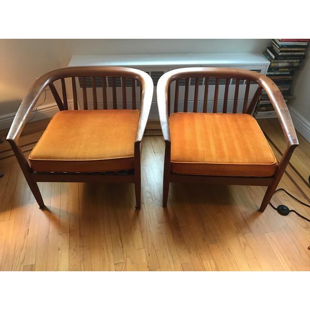 DUX Dux Danish Modern Teak Barrel Back Chairs - a Pair For Sale - Image 4 of 11